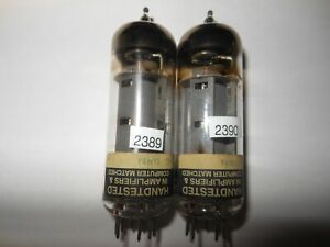 Pair Vintage STRONG Matched Mesa 6BQ5 Guitar Tubes Tested on Hickok 539C