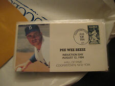 1984  First Day Envelope  Pee Wee Reese HOF Induction Day August 12, 1984