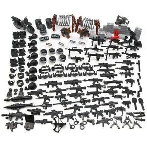 Lego Guns + SWAT And Military Accessories Weapons Lot! 🔥160 Pieces RARE!