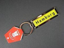 Hamburg Porte-Clés Panneau D'Endroit Jaune Métal, 10 CM, Neuf, Allemagne