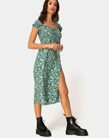 MOTEL ROCKS Milla Dress in Floral Field Green  (mr67.6)