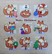 20 x paper Napkins  full pack Christmas  foxies    table party 126
