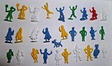 Lot 29 anciennes figurines publicitaires belges monochrome tintin Hergé Stenval