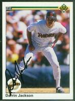 Original Autograph of Darrin Jackson of the Padres on a 1990 Upper Deck Card