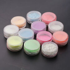12pcs Glow In The Dark Powder Fluorescent Luminescent Noctilucent Nail Pigment