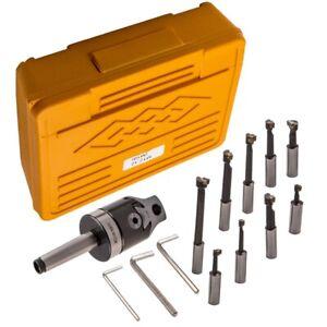 MT2-M10 F1-12 50mm Boring Head 9x 12mm Boring Bar CNC Milling tools Kit Set