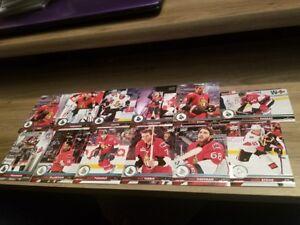 2017-18 Upper Deck series 1& SERIES 2 Ottawa Senators Team Set (12 CARDS)