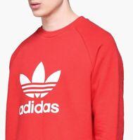 Adidas Originals 90 Retro Style Trefoil Logo Washed Crewneck Sweater DH5826 Q
