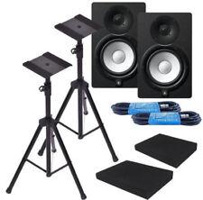 "Yamaha HS7 6.5"" Black Powered Studio Monitor Bundle W/ Free Stands & More *New*"