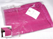 "Graciella Fringe Table Runner Fuschia (16""x72"") Saro Lifestyle Fuschia NEW"
