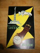 Vintage Rolex Advertising Folding Map of Lucerne Bucherer Watches