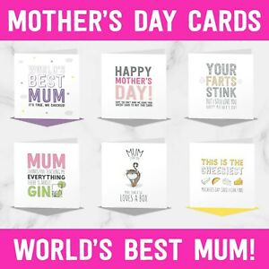 Funny Mother's Day Card Collection - Joke Humour Banter Rude Love Cute Cheeky