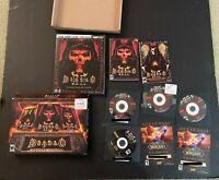 Diablo 2 Battle Chest PC *CIB* RARE 4 Discs Complete Computer Game