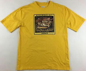 Muhammad Ali Adidas Originals 2007 yellow boxing T-shirt retro 2XL XXL