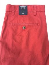 Tommy Hilfiger men's Mercer jeans chino Burgundy 33Wx34L