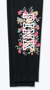 Victorias Secret Pink High Waist Cotton Legging Black Floral Extra Large XL