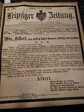 LEIPZIGER ZEITUNG  1873, Quartalsband, Oktober bis Dezember, 2000 Seiten !!!