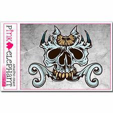 Aufkleber - Buddy Skull 43 - 11 cm x 9,5 cm - Totenkopf - Sticker bones eule owl