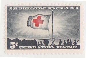 (K565-127) 1963 USA 5c Red Cross MINT (EA)
