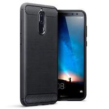 Étuis, housses et coques noirs Pour Huawei Mate 10 en silicone, caoutchouc, gel pour téléphone mobile et assistant personnel (PDA)