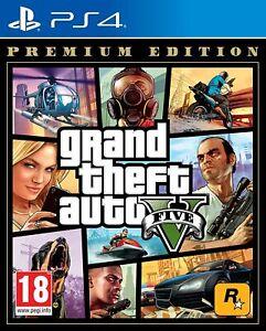 Grand Theft Auto: V Premium Edition for Sony® PS4 / PS5 Rockstar Crime - New!!