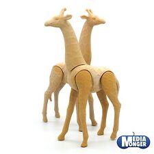 Playmobil Vida Salvaje África Zoo Circo Figura: 2x jirafa color SIN PINTAR