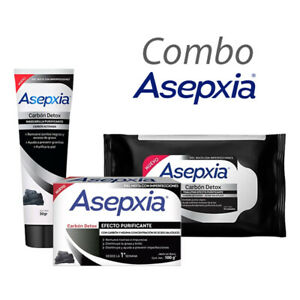 Asepxia carbon soap x 100 G + cleaning wipes for + purifying mask  30G