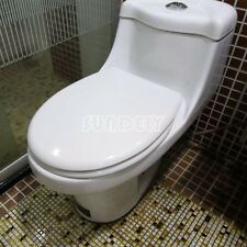 Luxury Shape Heavy Duty Soft Close White Toilet Seat | with TOP FIXING Hinges