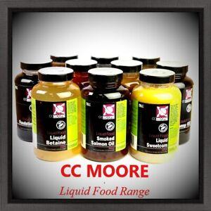CC Moore - Liquid Foods Additive Range Flüssiglockstoffe Neue Sorten !!