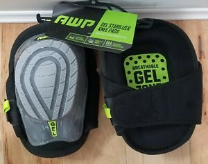 AWP Breathable Gel Stabilizer Knee Pads Roofing, Decking, Flooring **NWT**