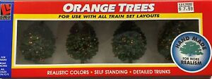 Life Like Trains Orange Trees For Use With All Train Set Layouts 1909