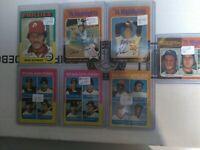 1975 Topps Baseball Card Star Lot of 7.$60 Val. Hank Aaron, Nolan Ryan, Mike Sc