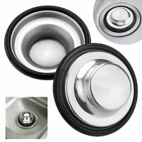 USA Stainless Steel Drain Cover Kitchen Water Sink Drainer Disposal Stopper Plug