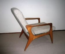 Wool Blend Wooden & Fabric Chairs