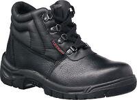 Tuffking 9038 S1P Black Steel Toe Cap Chukka Safety Boots Work Boot Footwear