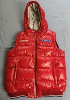 BOSCO Fresh Men's Red Space Down Hooded Puffer Vest Size XL New With Tags