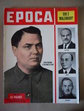 EPOCA n°128 1953 Il successore di Stalin Giorgio Malenkov  [G771]