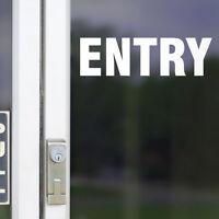 Entry Door Sign Office Business Sticker Decal Shopfront Trading #6812EN