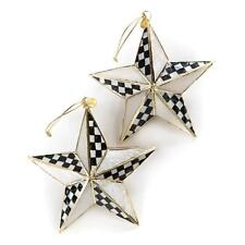 Authentic Mackenzie Childs    Star Bright Ornaments - Set of 2  NEW