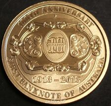 **2013 Centenary of Australian notes $1 coin UNC **