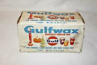 Vintage Gulfwax Household Paraffin Wax 1 lb. Box 4 Cakes Canning Gulf Oil Corp