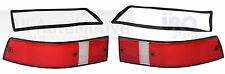 Porsche 911 912 930 Set of 2 Tail Light Lenses w/seals (R&L)  USA colors Red/Wht