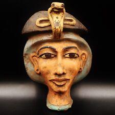 Stunning Large Antique Egyptian Pharaoh Mask Bust Figure