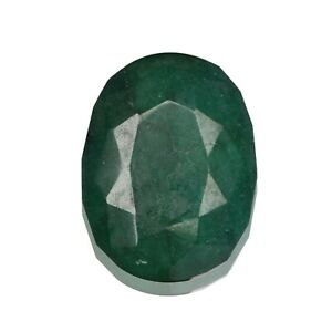 Zambian Natural Green Emerald 111.50 Ct Oval Cut Faceted Loose Gemstone EU-553
