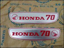 Honda CUB 70 C70 C70M Gas Tank Sticker Emblem Decal Aluminium LH&RH