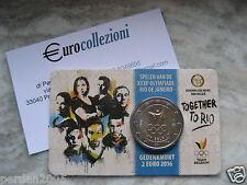 BELGIO 2016 2 EURO COINCARD GIOCHI OLIMPICI RIO 2016 OLIMPIADI BELGIUM BELGIEN .