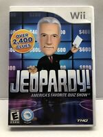 Jeopardy Nintendo Wii Game - Complete with Manual - Tested - Free Ship
