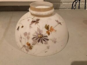 VICTORIAN HAND PAINTED OIL LAMP SHADE