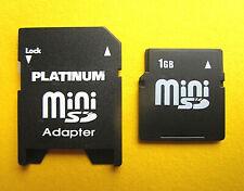 PLATINUM - 1GB mini-SD-Karte +Adapter auf Standard-SD - in Plastik-Box !! NEU !!