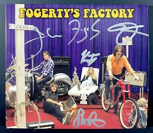Fogerty's Factory CD Signed X4 Autograph CCR Creedence Clearwater Revival John